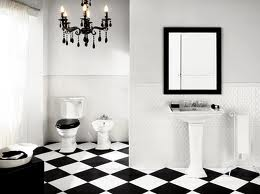 Black and White Tile Bathroom Floor Tiles